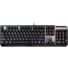 Клавиатура MSI VIGOR GK50 LOW PROFILE RU механическая черный USB Multimedia for gamer LED (подставка для запястий)
