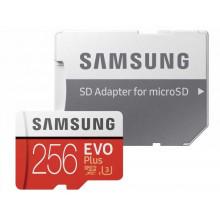 Флеш карта microSDXC 256Gb Class10 Samsung MB-MC256HA/RU EVO PLUS + adapter