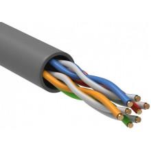 Кабель информационный ITK GENERICA BC1-C5E04-111-305-G кат.5е U/UTP не экранированный 4X2X24AWG PVC внутренний 305м серый