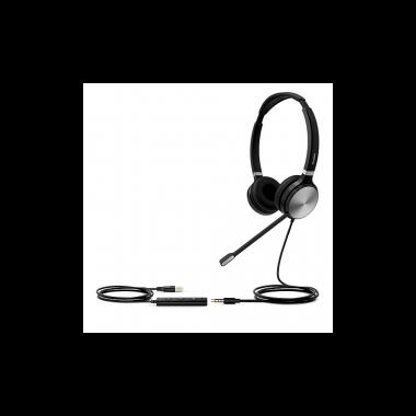 Гарнитура проводная Yealink UH36 Dual-UC черный