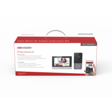 IP-комплект видеодомофонии Hikvision DS-KIS603-P серебристый