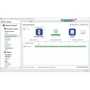 Программное обеспечение TRASSIR NetSync для синхронизации архивов видеорегистраторов TRASSIR