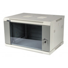 Шкаф коммутационный Lanmaster (TWT-CBWPG-6U-6X4-GY) 6U 600x400мм пер.дв.стекл 60кг серый