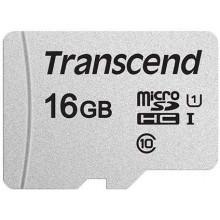 Флеш карта microSDHC 16Gb Class10 Transcend TS16GUSD300S w/o adapter