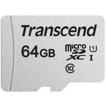 Флеш карта microSDXC 64Gb Class10 Transcend TS64GUSD300S w/o adapter