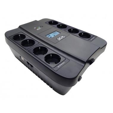ИБП Powercom Spider SPD-1100U LCD (605Вт, 1100ВА, черный)