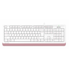 Клавиатура A4 Fstyler FK10 белый/розовый USB