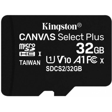 Флеш карта microSDHC 32Gb Class10 Kingston SDCS2/32GBSP CanvSelect Plus w/o adapter