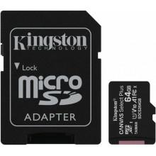 Флеш карта microSDXC 64Gb Class10 Kingston SDCS2/64GB CanvSelect Plus + adapter