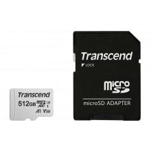 Флеш карта microSDXC 512Gb Class10 Transcend TS512GUSD300S-A + adapter