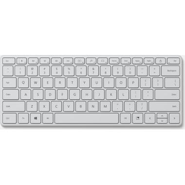 Клавиатура Microsoft Designer Compact Keyboard Monza механическая серый USB Multimedia Ergo (подставка для запястий)