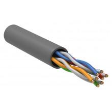 Кабель информационный ITK BCC1-C5E04-111-305-G кат.5е U/UTP не экранированный 4X2X24AWG PVC внутренний 305м серый