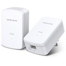 Сетевой адаптер Powerline Mercusys MP500 KIT AV1000 Gigabit Ethernet