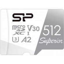 Флеш карта microSDXC 512Gb Class10 Silicon Power SP512GBSTXDA2V20SP Superior + adapter