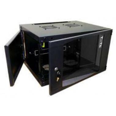 Шкаф коммутационный Lanmaster TWT-CBWNG-6U-6X6-BK 6U 550x600мм пер.дв.стекл 60кг черный