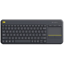 Клавиатура Logitech K400 Plus черный USB беспроводная