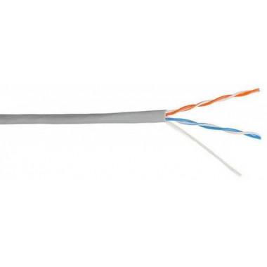 Кабель информационный Lanmaster NM-UTP5E2PR-CCA кат.5е U/UTP не экранированный 2X2 PVC внутренний 305м серый