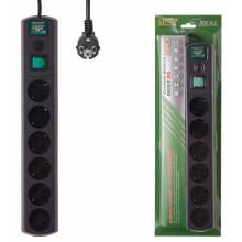 Сетевой фильтр Most RG 5м (6 розеток) черный (коробка)