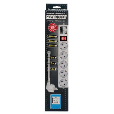 Сетевой фильтр Powercube SPG-B-15-WHITE 5м (5 розеток) белый (коробка)