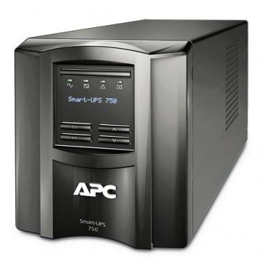 ИБП APC Smart-UPS SMT750I (500Вт, 750ВА, черный)