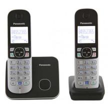 Р/Телефон Dect Panasonic KX-TG6812RU черный (труб. в компл.:2шт) АОН