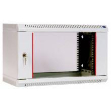 Шкаф коммутационный ЦМО ШРН-6.480 6U 600x480мм пер.дв.стекл несъемн.бок.пан. 50кг серый