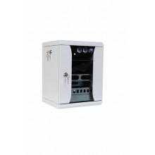 Шкаф коммутационный ЦМО ШРН-8.255-10 8U 320x305мм пер.дв.стекл серый