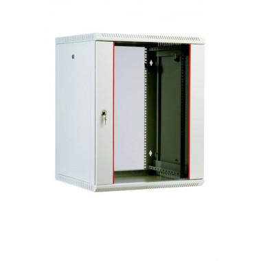 Шкаф коммутационный ЦМО ШРН-М-12.500 12U 600x520мм пер.дв.стекл 50кг серый