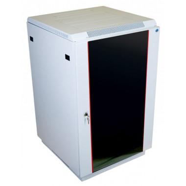 Шкаф коммутационный ЦМО ШТК-М-18.6.6-1ААА 18U 600x600мм пер.дв.стекл задн.дв.стал.лист 2 бок.пан. направл.под закл.гайки 270кг серый