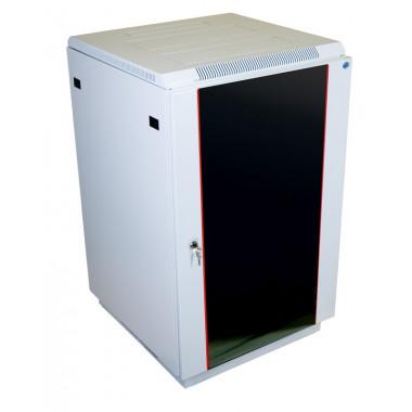 Шкаф коммутационный ЦМО ШТК-М-27.6.6-1ААА 27U 600x600мм пер.дв.стекл задн.дв.стал.лист 2 бок.пан. направл.под закл.гайки 400кг серый
