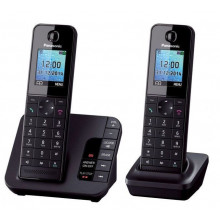 Р/Телефон Dect Panasonic KX-TGH222RUB черный (труб. в компл.:2шт) автооветчик АОН
